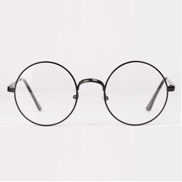 Women's Men's Retro Round Metal Frame Clear Lens Glasses Nerd Spectacles Eyeglassdresskily-dresskily
