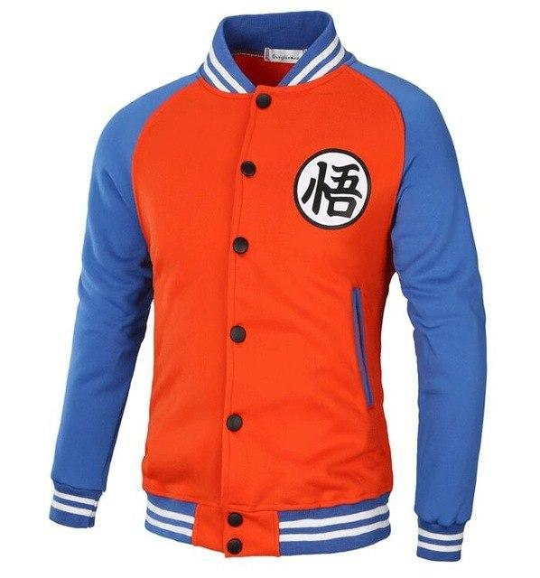 T-Bird Brand 2018 Hoodies Men Dragon Ball Coat Casual Male Jacket Moletondresskily-dresskily