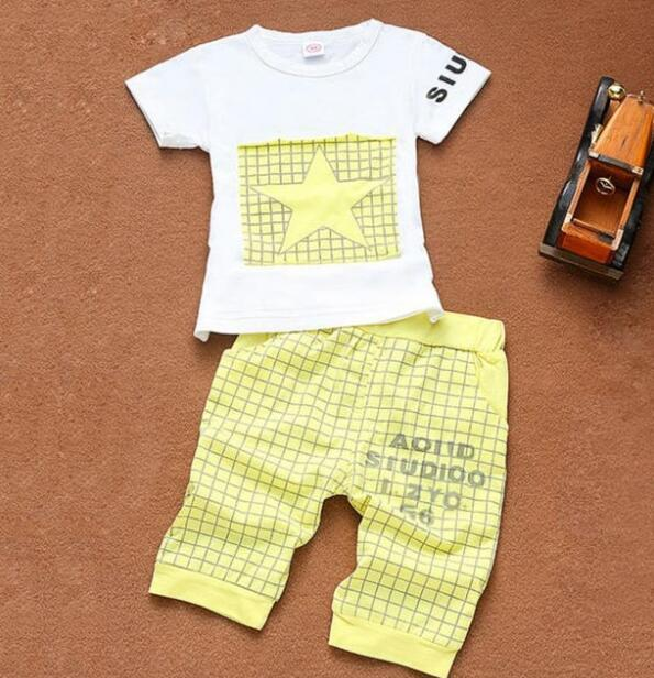 Baby Boy Clothes 2017 Brand Summer Kids Clothes Sets T-shirt+Pants Suit Clothingdresskily-dresskily
