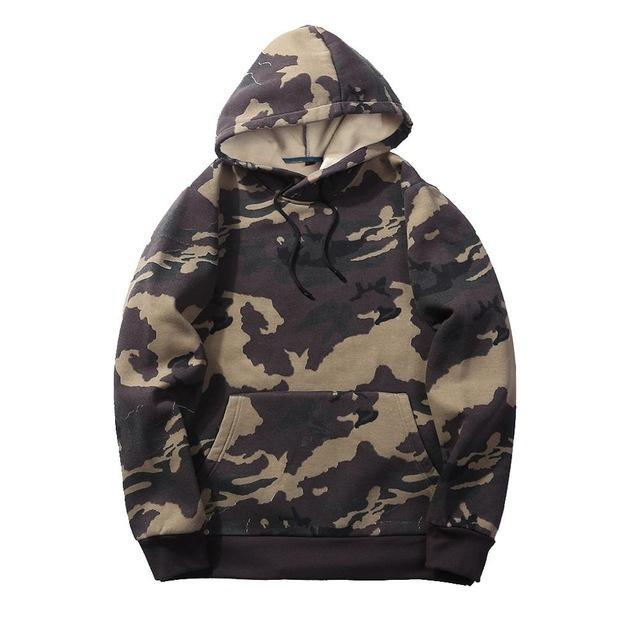 Camouflage Hoodies Men 2018 New Sweatshirt Male camo Hoody Hip Hopdresskily-dresskily