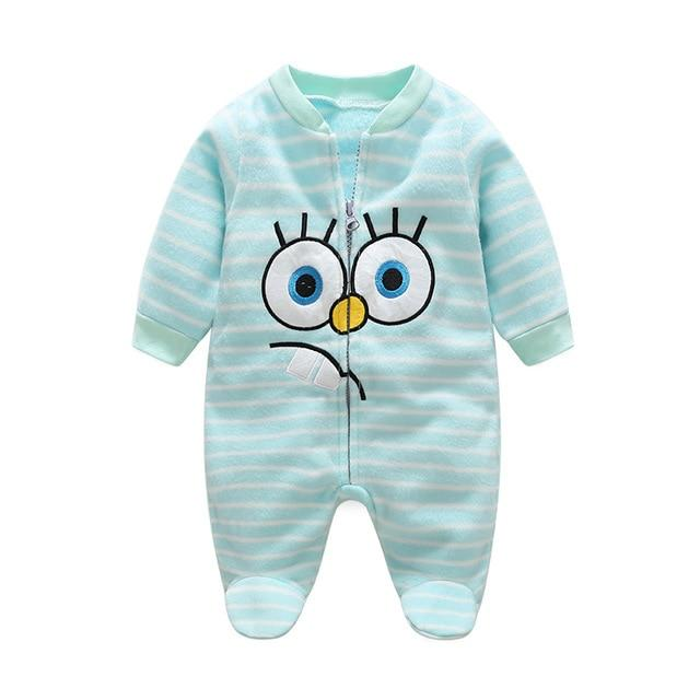 Newborn Fleece Baby Rompers Colorful Baby Boys Girls Clothing Spring Autumn Newdresskily-dresskily