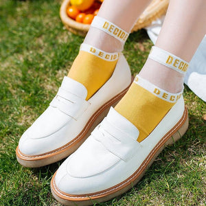 Pink Women Socks Female Creative Cute Socks Girls Woman Female Decided Letterdresskily-dresskily