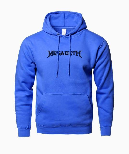 Hot 2018 Spring Winter Fleece High Quality Mens Hoodies MEGADETH Rack Anddresskily-dresskily