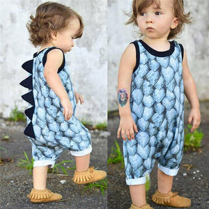 Summer Baby Clothes Toddler Newborn Infant Baby Girl Boy Sleeveless Dinosaur Printdresskily-dresskily