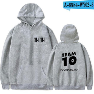 Jake Paul Team 10 Winter Fashion Hoodies Grey Men Hoodie Top Sportsweardresskily-dresskily