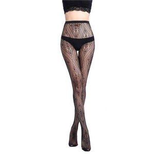 Style Sexy women's tights Stockings Black Elastic Pantyhose Ladies mesh Stockings Lingeriedresskily-dresskily