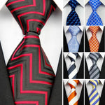 New Jacquard Woven Neckties for Men Striped Business Suite Gravatas Slim Men'sdresskily-dresskily