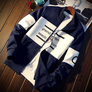 2018 New Fashion Long Sleeve Hoodie Men Zipper Sweatshirtdresskily-dresskily