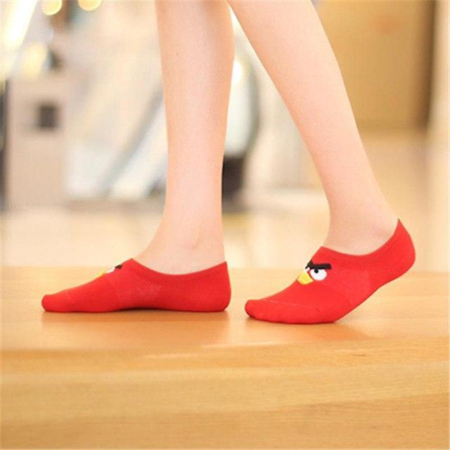 New fashion Cute Girls Socks Angry birds Printing Cartoon Animal Zoo Cottondresskily-dresskily