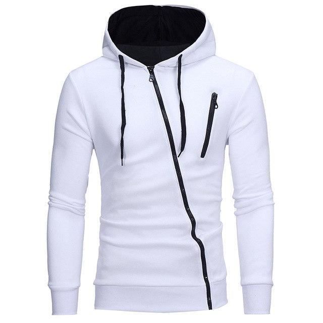 Drop Shipping 2018 New Fashion Long Sleeve Hoodie Men Features Zipper Sweatshirtdresskily-dresskily