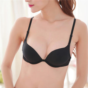 Womens Small Breasts Deep V Push Up bras Sexy Plunge bra Underwiredresskily-dresskily