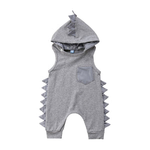 Dinosaur Newborn Toddler Kid Baby Girl Boy 3D Hooded Romper Jumpsuit Sleevelessdresskily-dresskily