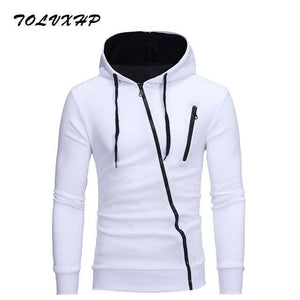 New Hoodies Men 2018 Brand Male Long Sleeve Hoodie Side Oblique pulldresskily-dresskily