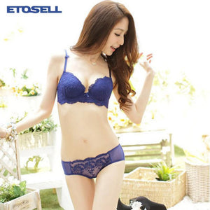 Womens Lace Bra Set Push Up Bra Three-breasted Bra Underwear Outfits Cupdresskily-dresskily