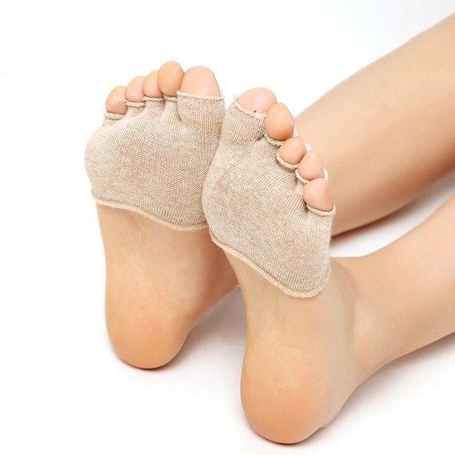 Practical Design Women Socks Physical Erexcise Invisible Sock Non Slip Toe Halfdresskily-dresskily