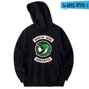 luckyfridayf Riverdale cotton oversized Hoodie sweatshirt south side serpents TV Drama Men/Womendresskily-dresskily