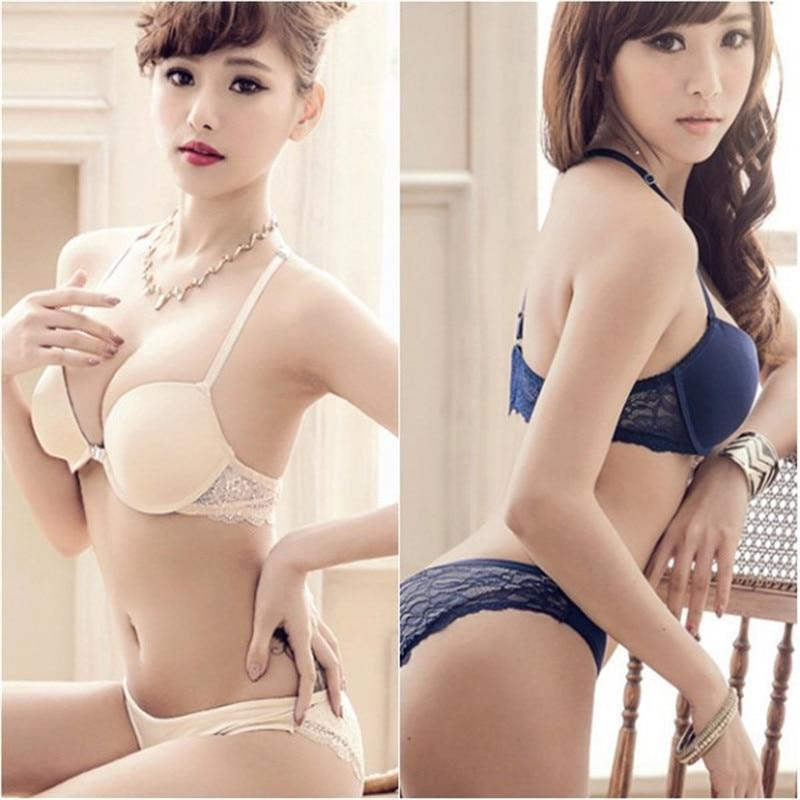 New hot!!!2016 Summer sexy cotton 3/4 Cup Front Closure Underwire Push Updresskily-dresskily