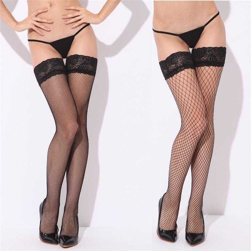Sexy Mesh Stockings Women Sexy Lace Top Sheer Stay Up Knee Thighdresskily-dresskily