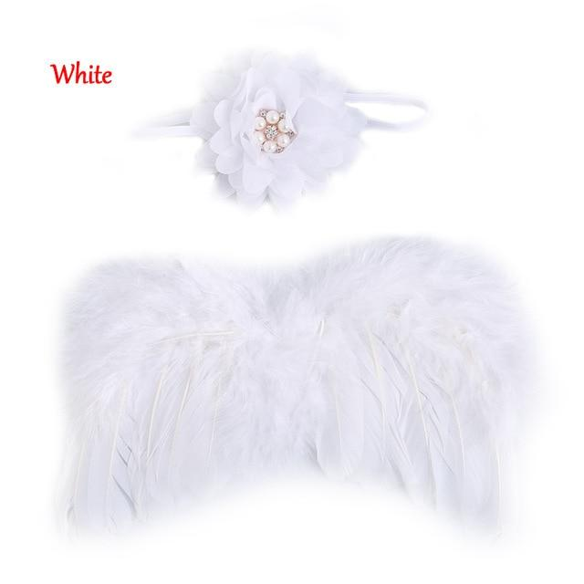 2017 Beautiful	Cute Angel Baby Feather Newborn Photography Props Wings Costume Headband dresskily-dresskily