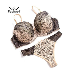 Sexy Push Up Lace Women Underwear Panty Set Set Intimates Embroiderydresskily-dresskily