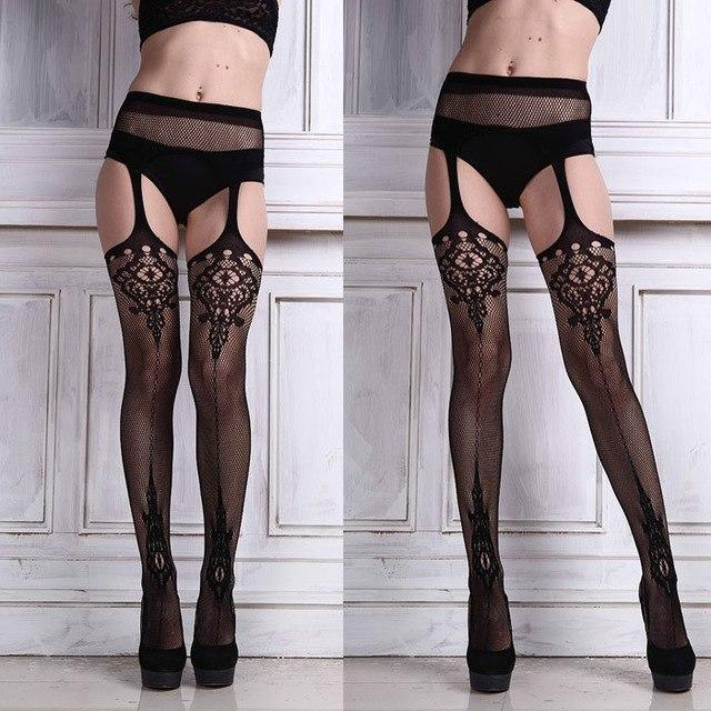 My Stylish Amazing Sexy Womens Lingerie net Lace Top Garter Belt Thighdresskily-dresskily