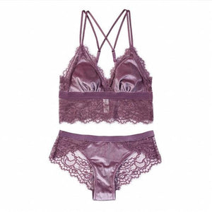 New Fashion Women sexy Velvet Bra set Underwear Push up brassieredresskily-dresskily