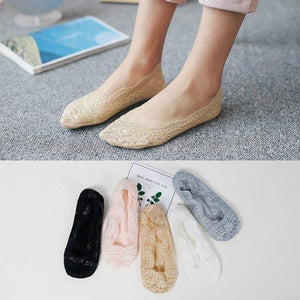5 Pairs/lot Women Socks Candy Color Small Animal Cartoon Pattern Boat Socksdresskily-dresskily