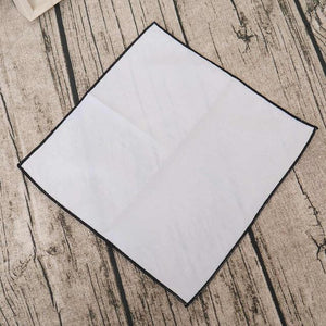 New Handkerchiefs Cotton White Solid Pocket Square Towel 23*23CM Hankies Casual Soliddresskily-dresskily