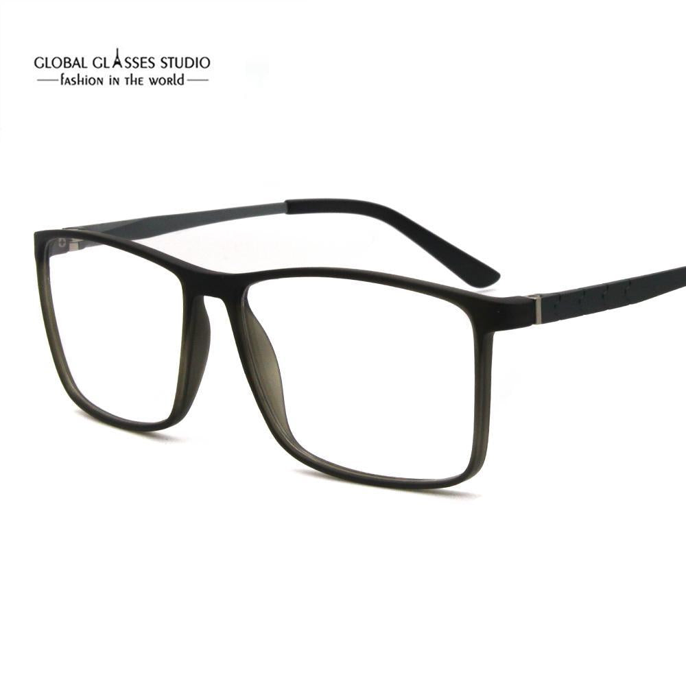 Free Shipping Square Shape Men Women Designer Eyewear Big Face Light Weightdresskily-dresskily