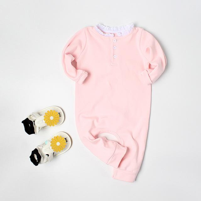 2018 Autumn Re-design Baby Rompers Long Sleeve with Angel Wings Pure cottondresskily-dresskily