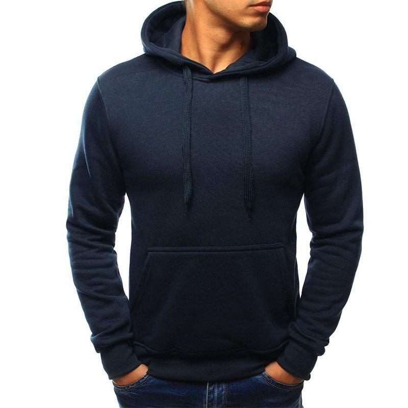 Brand 2018 Hoodie Solid Color Hoodies Men Fashion Tracksuit Male Sweatshirt Hoodydresskily-dresskily