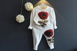 2018 spring autumn children's beautiful girl fashion baby clothes set baby girldresskily-dresskily