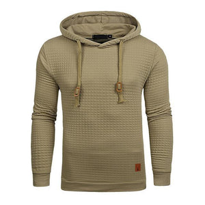 Dropshipping 2018 Hoodies Men Male Long Sleeve Solid Color Hooded Sweatshirt Men'sdresskily-dresskily