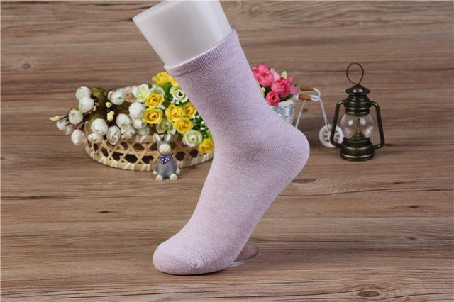 Solid Color Women Cotton Socks Lady Girls Fashion Spring Summer Casual Blackdresskily-dresskily