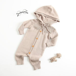 New 2018 Fashion Girls Boys Knitted Rompers Full Sleeve Hooded Kids Jumpsuitsdresskily-dresskily