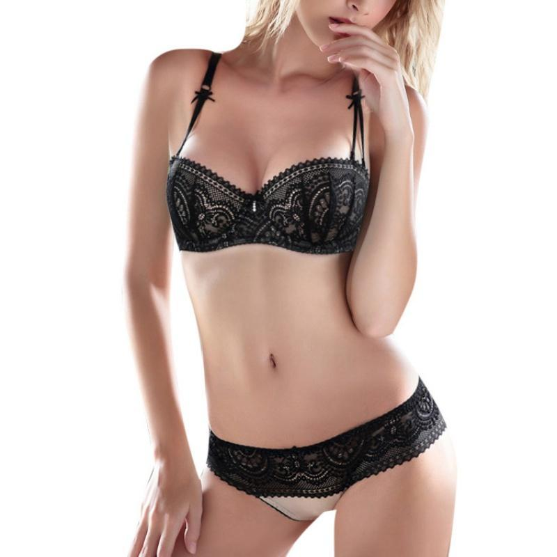 Sexy Underwear Intimates Sets Women Lace Bra Set Adjustable Underwear Set Pushdresskily-dresskily