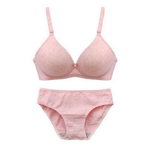 Women Bra Sets Lingerie Girls No Rims Glossy Bras Underwear Push-Up Paddeddresskily-dresskily