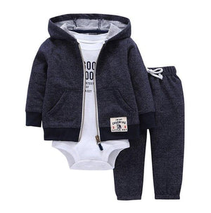 baby boy clothes rockets print tracksuit hooded coat +Long sleeve romper+pants clothingdresskily-dresskily
