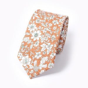 Fashion Floral Cotton Men Neck Tie Wedding Party European Style 6cm Skinnydresskily-dresskily