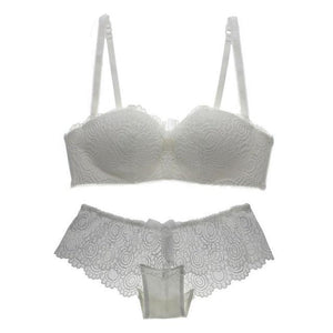 Women Bra Sets Adjustable Sexy Lace Bra Underwear Wire Free Lingerie Push-updresskily-dresskily