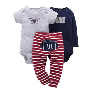 baby boy clothes Long sleeve stripe letter romper+short sleeves rockets print romper+UFOdresskily-dresskily
