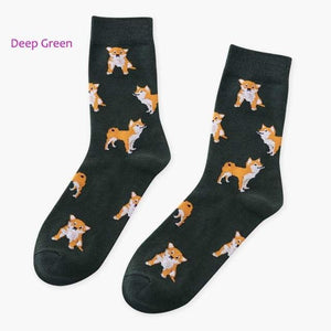 Japan Style Harajuku Dog Patterned Women Ankle Summer Cotton Socks Fashion Thindresskily-dresskily