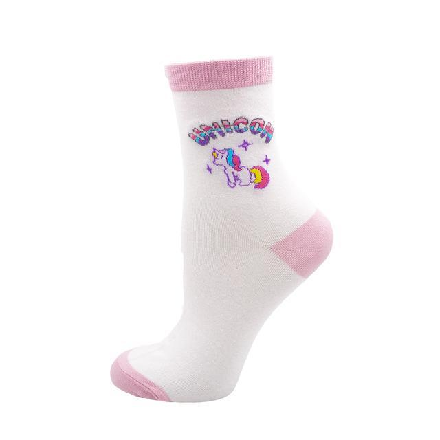 Kawaii Sweet Women's Socks Funny Cute Cream Candy Color Milk Strawberrydresskily-dresskily