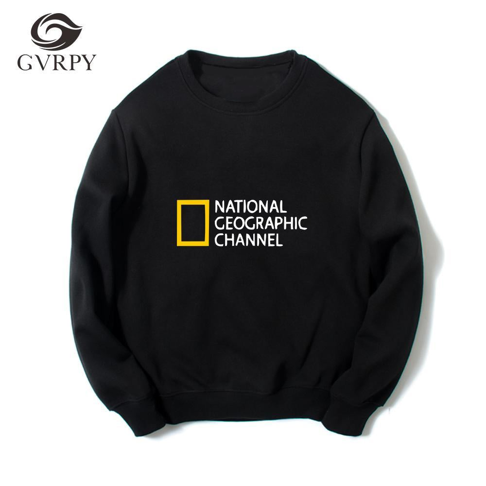 Printed NATIONAL GEOGRAPHIC CHANNEL sweatshirts hip hip streetwear women men comfortable jerseydresskily-dresskily