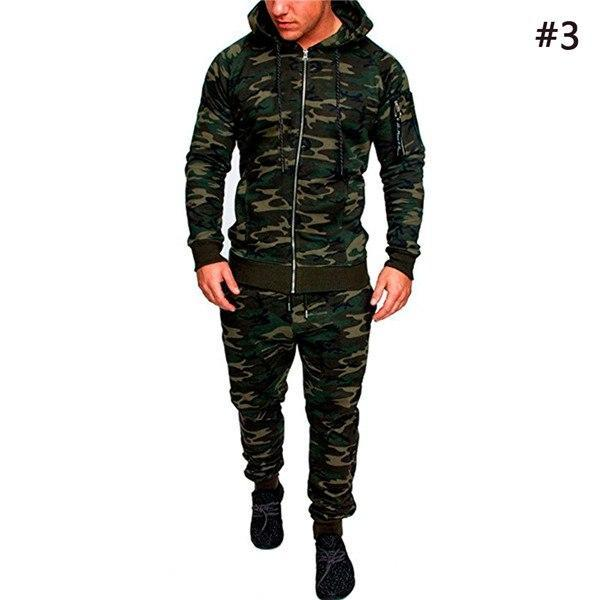 2018 Camouflage Jackets Hoodie Men Long Sleeve Hooded Sportswear Male Zippersdresskily-dresskily