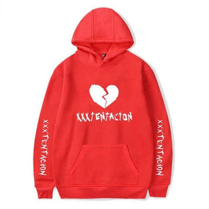 new fashion xxxtentacion hoodie broken heart sweatshirt men women hip hop rapperdresskily-dresskily