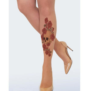Women Tights With Floral Sexy Transparent Seamless Tattoo Pantyhose Stockings Printed Flowersdresskily-dresskily