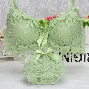 Hot Sale Women Underwear Set Cotton Bra Panty Set Brand Embroidery Tasseldresskily-dresskily