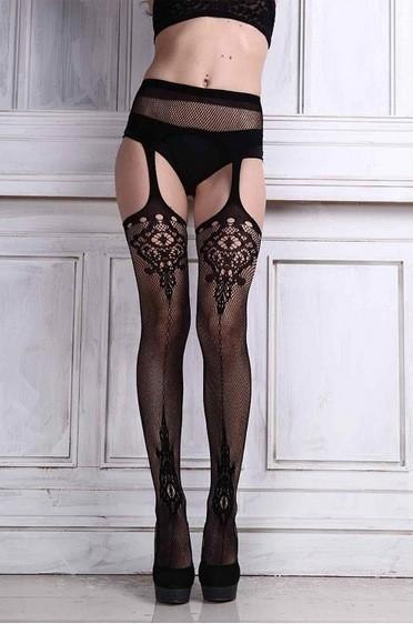 Sexy Pantyhose Women Feminin Black Fishnet Tights Lady Thigh High Stocking Jacquarddresskily-dresskily