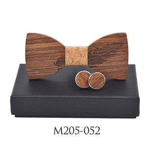 New 2018 Classic feather noble Wood Bow Ties for Mens Weddingdresskily-dresskily